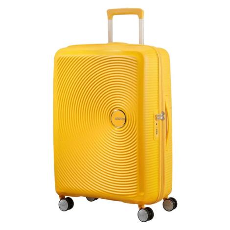 American Tourister Cestovný kufor Soundbox Spinner 32G 97/110 l - žlutá