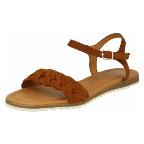 Apple of Eden Remienkové sandále  koňaková