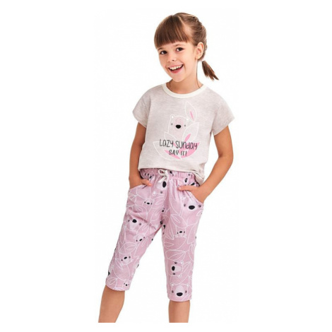 Dievčenské pyžamo Beky béžová koala Taro