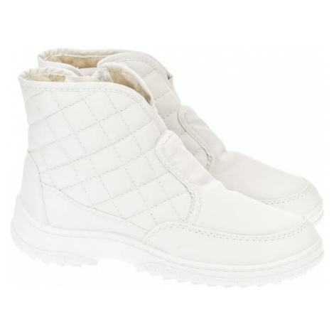 Dámske biele členkové čižmy E-LUX John-C