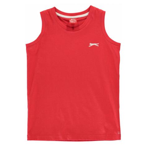 Slazenger Sleeveless T Shirt Junior Boys Red