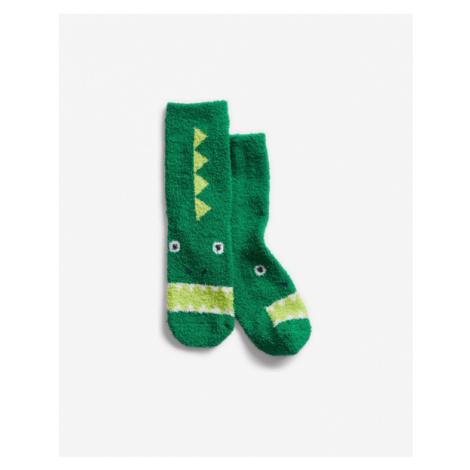 Zelené chlapčenské ponožky