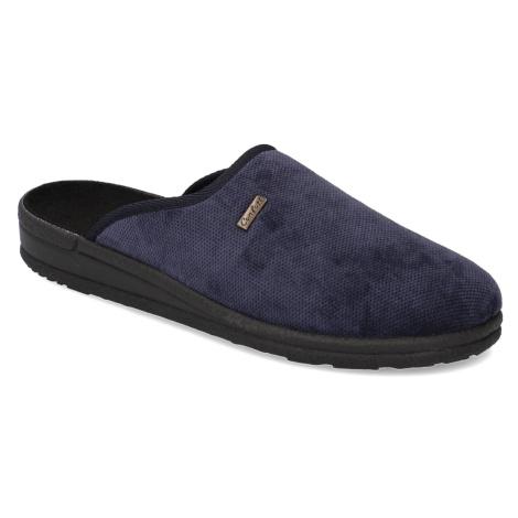 Natura textil domáca obuv modrá