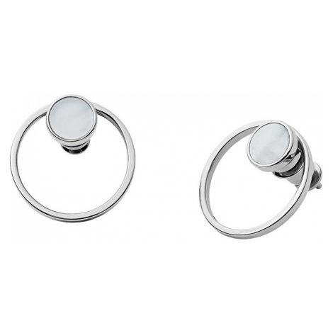 Skagen Minimalistické náušnice s perleťou 2v1 Agnetha SKJ1096040