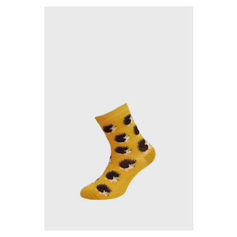 Detské ponožky Ježkovia žltá Wola