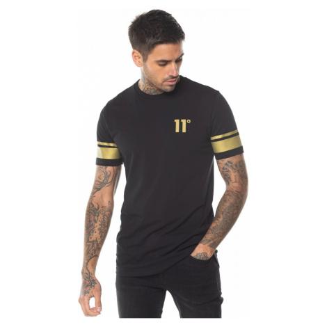 11 Degrees Double Stripe T Shirt Black/Gold