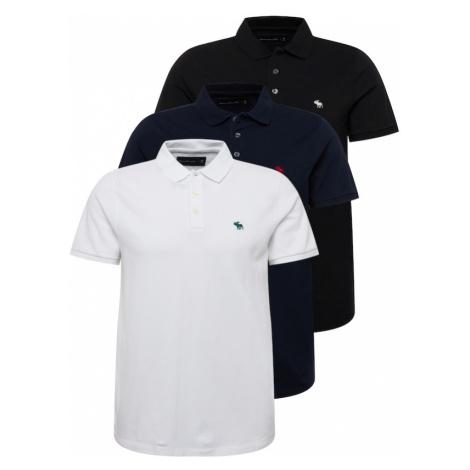 Abercrombie & Fitch Tričko  biela / čierna / tmavomodrá