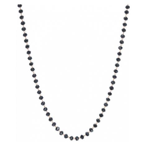S`Agapõ Náhrdelník s čiernymi korálkami Happy SHAC48 S'Agapõ