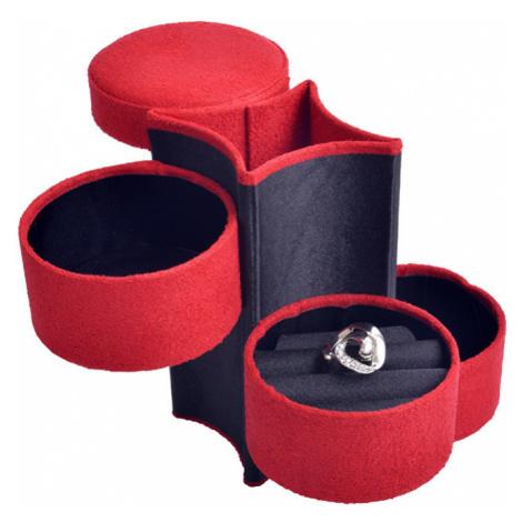JK Box Červená cestovná šperkovnica SP-885 / A10 JKbox