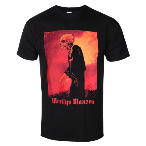 Tričko metal ROCK OFF Marilyn Manson Madmonk Čierna