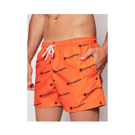 Champion Plavecké šortky 214433 Oranžová Regular Fit