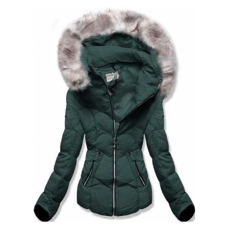 MODOVO Zimná bunda s kapucňou khaki