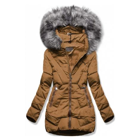 MODOVO Zimná bunda s kapucňou hnedá