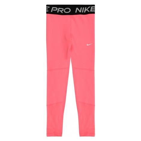 NIKE Športové nohavice  svetloružová / čierna / striebornosivá