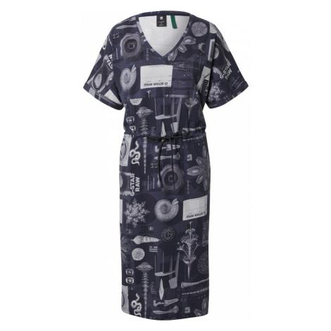 G-Star RAW Šaty 'Adjustable'  sivá / tmavomodrá