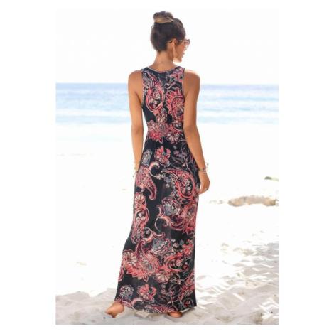LASCANA Letné šaty  zmiešané farby / čierna
