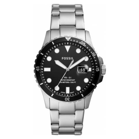 FOSSIL Analógové hodinky  strieborná / čierna