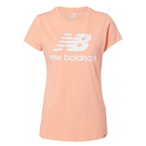 new balance Tričko  svetloružová / biela
