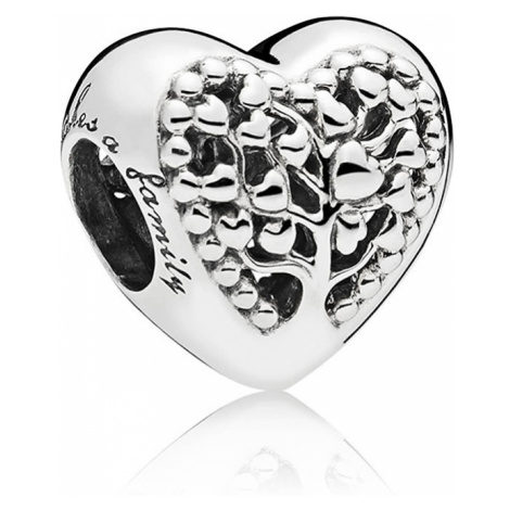Pandora Strieborný korálik Kvitnúce srdce