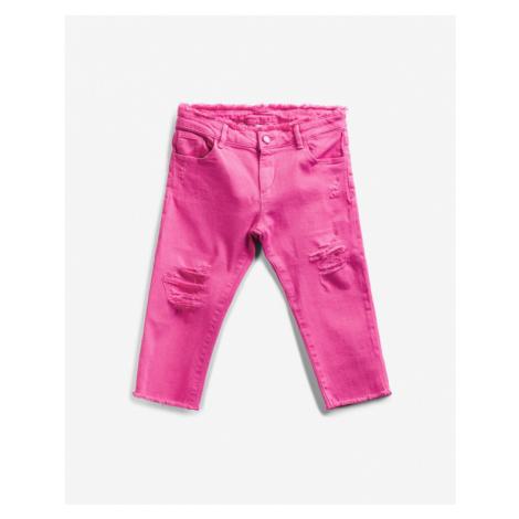 Guess Flavour Bull Capri Jeans detské Ružová