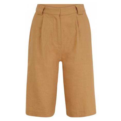 Y.A.S Tall Plisované nohavice 'FANA'  farba ťavej srsti
