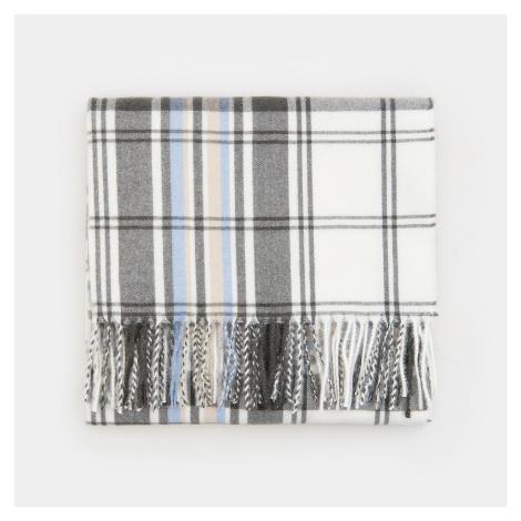 Mohito - Kockovaný šál so strapcami - Modrá