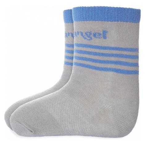 LITTLE ANGEL Ponožky tenké protišmykové Outlast® (20-24) - tmavošedá/modrá