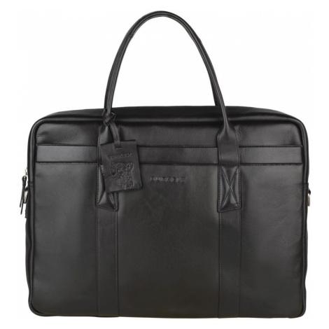Pánska kožená taška na notebook Burkely Dominic - čierna