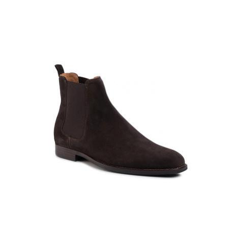 Gino Rossi Členková obuv s elastickým prvkom Wilson MSU425-474-R500-4000-0 Hnedá