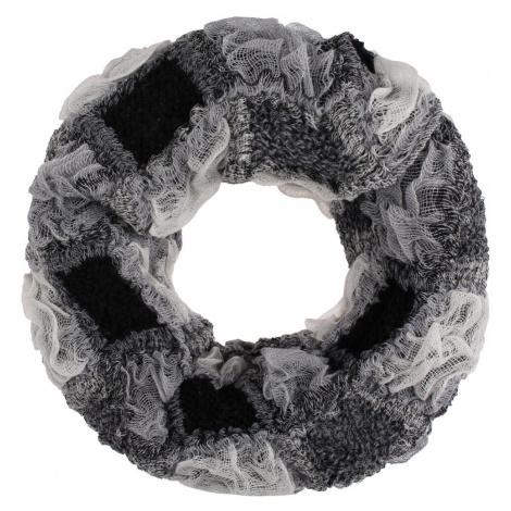 IZIA Kruhový šál  biela / čierna / sivá