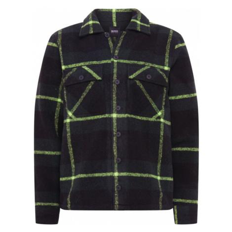 BOSS Prechodná bunda 'Lom'  čierna / neónovo žltá Hugo Boss