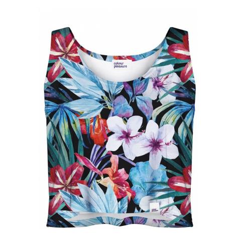 Kvetovaný crop top CP-035 Colour Pleasure