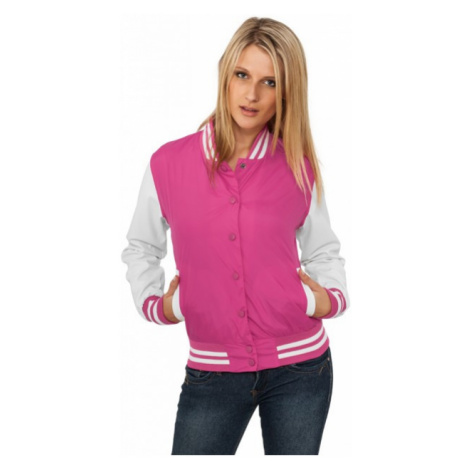 Urban Classics Ladies Light College Jacket fus/wht - Veľkosť:S