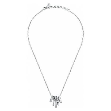 Morellato Moderné oceľový náhrdelník Insieme SAKM75 (retiazka, prívesok)
