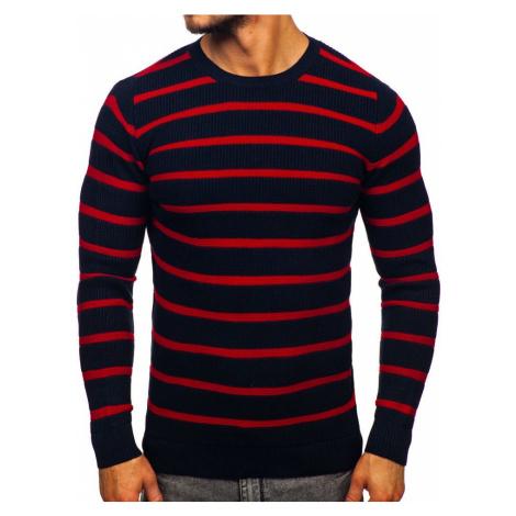 Tmavomodrý pánsky sveter Bolf 4356 MADMEXT