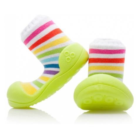 ATTIPAS Botičky pro miminka Rainbow green XXXL/25,5