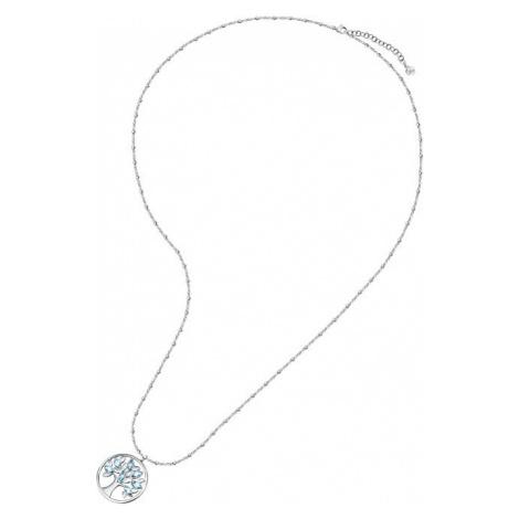 Morellato Pôvabný oceľový náhrdelník s modrými kryštálmi Strom života Vita SAUD01