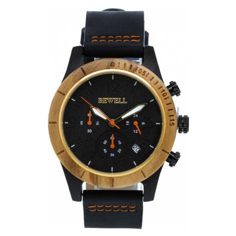 Drevené hodinky Lath hnedé