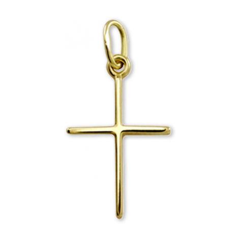 Brilio Zlatý prívesok krížik 001