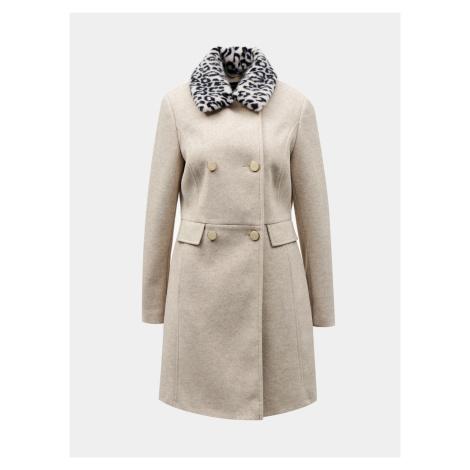 Dorothy Perkins béžové zimné kabát