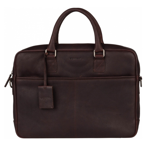 Pánska kožená taška na notebook Burkely Sammy - tmavo hnedá