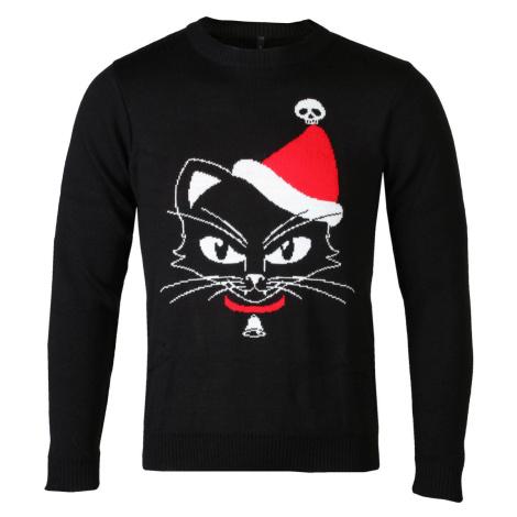 sveter ALCHEMY GOTHIC Black Cat Čierna