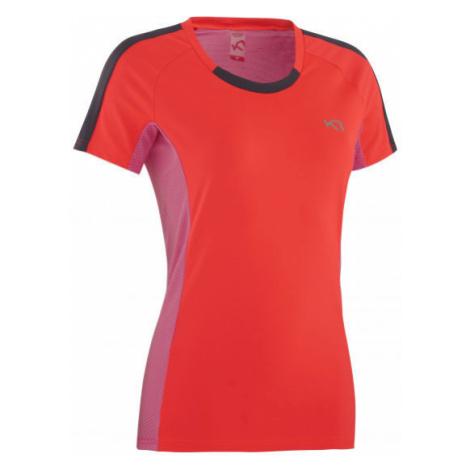 KARI TRAA KRISTIN TEE červená - Funkčné tričko s krátkym rukávom