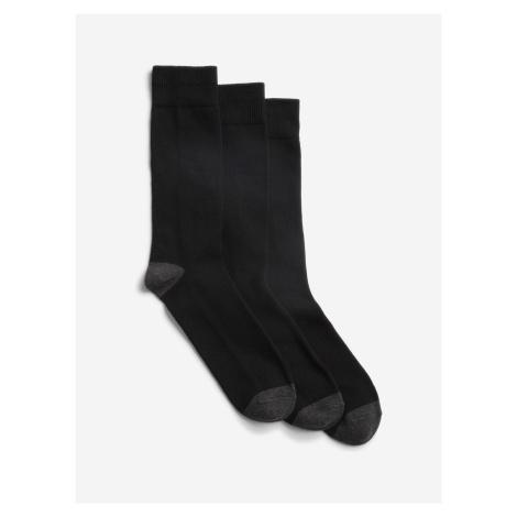 Ponožky 3 páry GAP Čierna