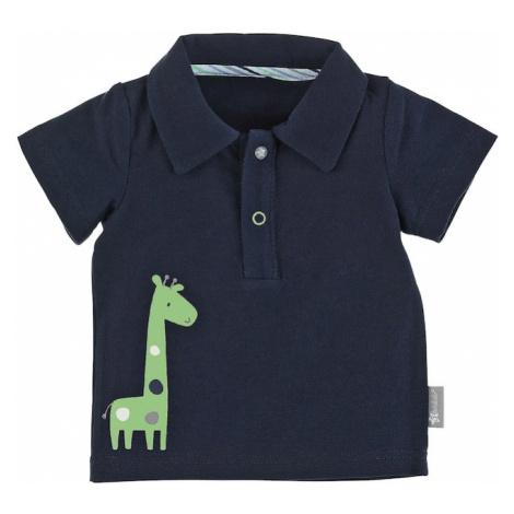 STERNTALER Tričko 'Giraffe'  námornícka modrá / svetlozelená / biela / dymovo modrá