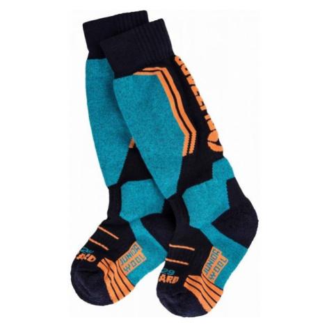 Blizzard ALLROUND WOOL SKI SOCKS JR modrá - Detské lyžiarske ponožky