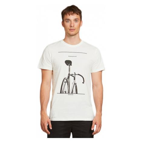 Dedicated T-shirt Stockholm Simplicity Bike Off-White-XL biele 18281-XL