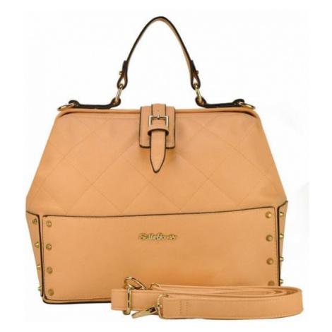 Trendy kufríková kabelka - marhuľová