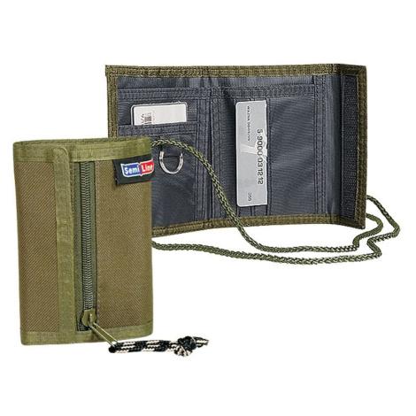 Semiline Unisex's Wallet 3226-6 Olive