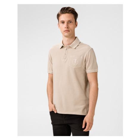 Trussardi Jeans Polo tričko Béžová